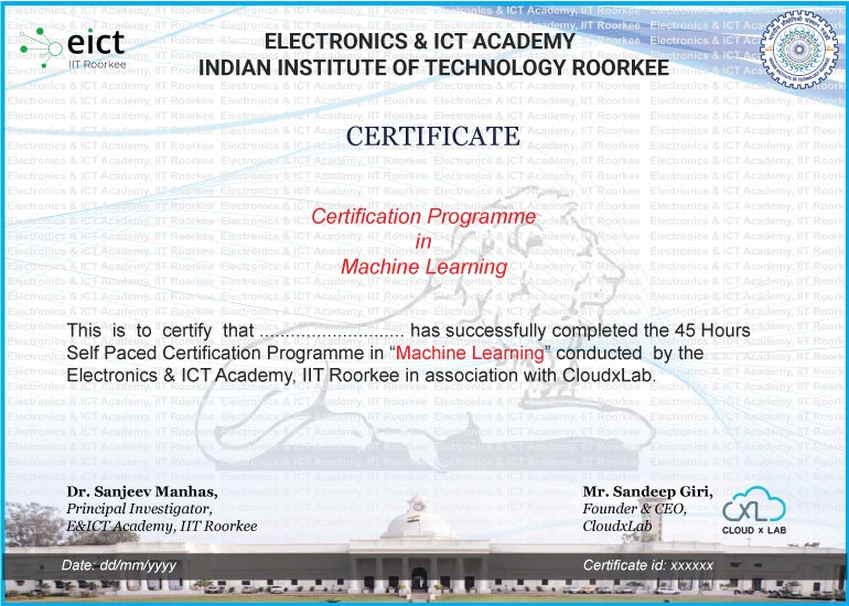 ML EICT Certificate