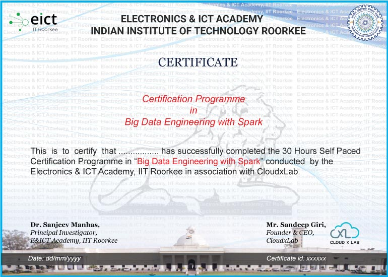 BDS EICT Certificate