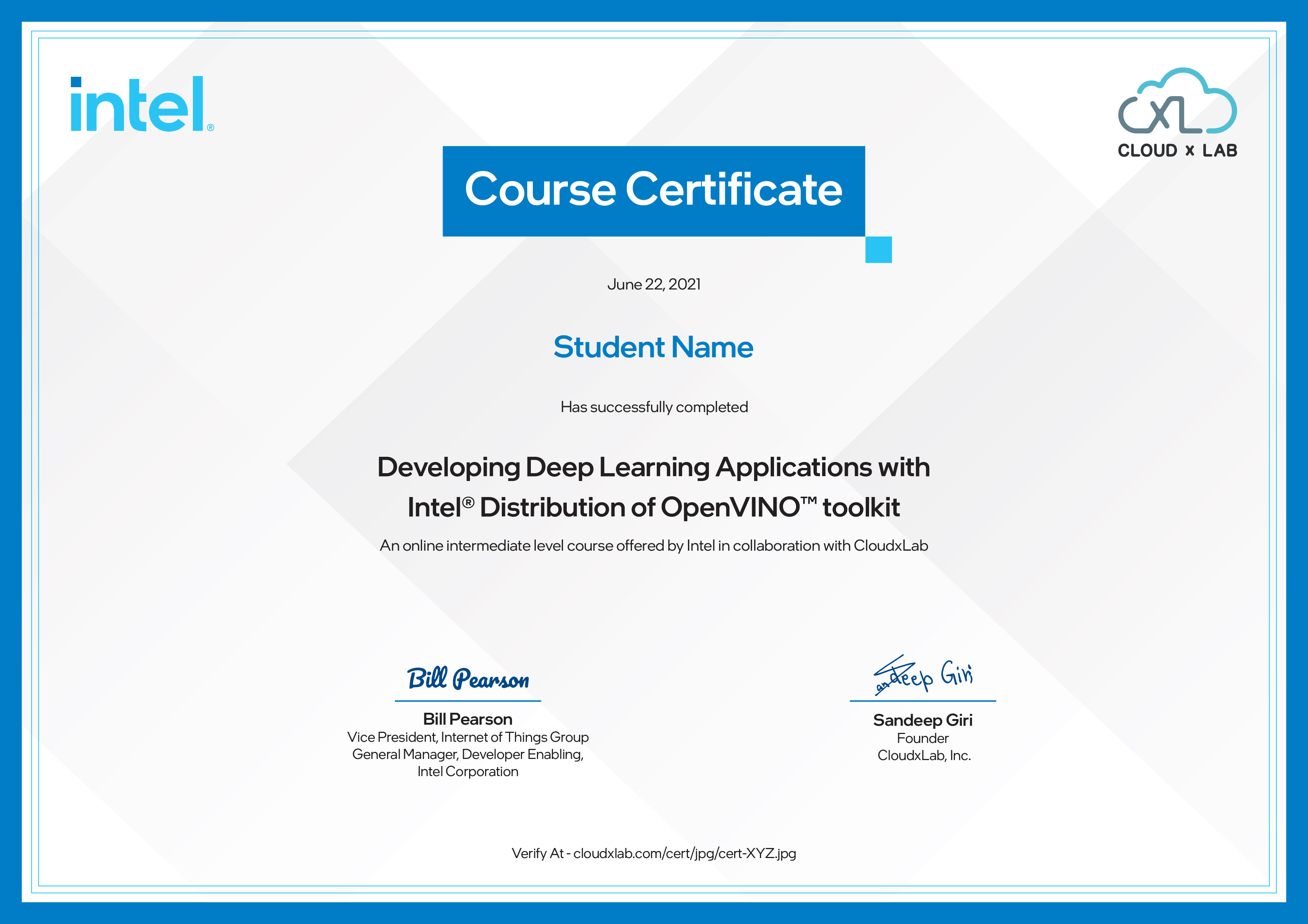Developing Deep Learning Applications using Intel® Distribution of OpenVINO™ Toolkit
