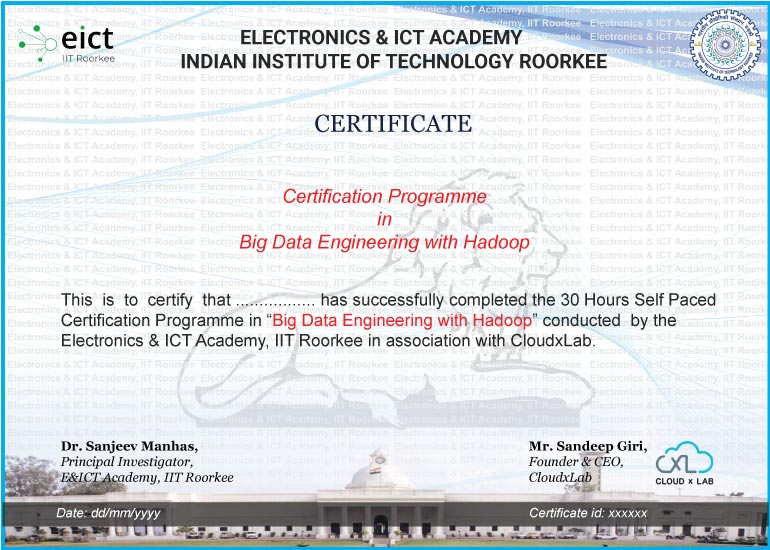 BDH EICT Certificate
