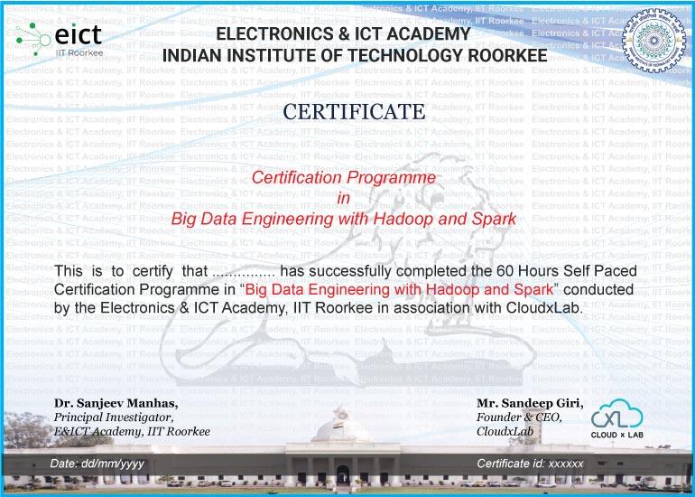 BDHS EICT Certificate