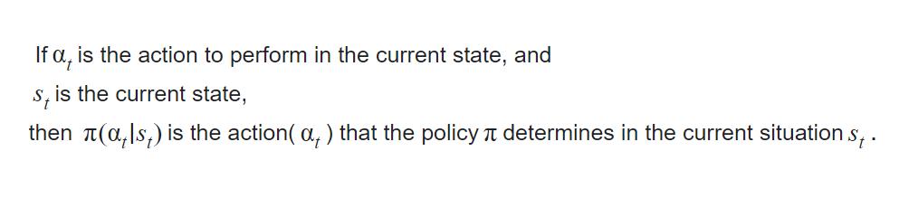 policy  math representation
